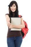kvinnlig deltagare för högskola Arkivfoto