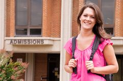 kvinnlig deltagare för högskola Royaltyfri Bild