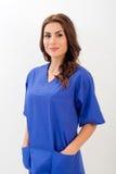 Kvinnlig doktor/sjuksköterska fotografering för bildbyråer