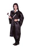 Kvinnlig domare i en kappa Fotografering för Bildbyråer