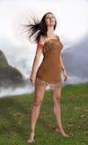 Kvinnlig druid royaltyfria foton