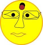 Kvinnlig emojiframsida vektor illustrationer