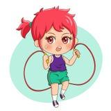 Kvinnlig Exercise_1 stock illustrationer