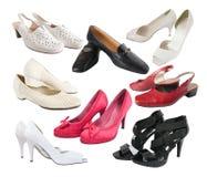 kvinnlig få isolerade skor Royaltyfria Bilder