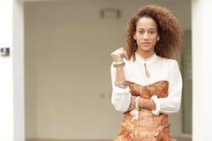 Kvinnlig för blandad race Fotografering för Bildbyråer