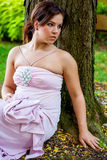 Kvinnlig för dam för flicka för ung kvinna för brunett sexig i formell dress Royaltyfri Bild