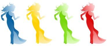 kvinnlig för konstgemmode vektor illustrationer