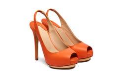 Kvinnlig footwear-112 Fotografering för Bildbyråer