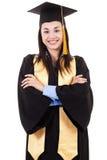 Kvinnlig högskolakandidat Arkivbild