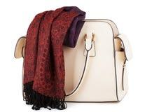 Kvinnlig handväska Fotografering för Bildbyråer