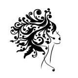 Kvinnlig head kontur för din design vektor illustrationer