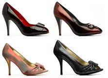 kvinnlig heeled höga skor Arkivfoton