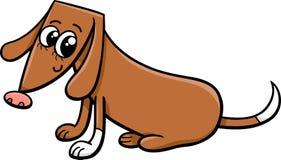 Kvinnlig hundtecknad filmillustration Arkivfoto