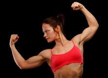 Kvinnlig idrottsman nen Arkivbilder
