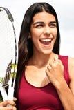 Kvinnlig idrottsman nen Winner fotografering för bildbyråer
