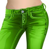 Kvinnlig jeans för jeans, flicka, kvinnlig, mode, barn, royaltyfri illustrationer