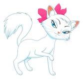 Kvinnlig katt vektor illustrationer