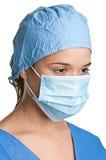 Kvinnlig kirurg fotografering för bildbyråer
