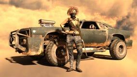 Kvinnlig krigare Arkivbild