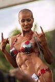 Kvinnlig kroppsbyggare Arkivbilder