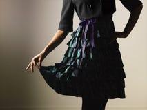 kvinnlig kvinna för klänning Royaltyfri Foto