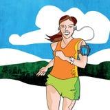 Kvinnlig löpare Arkivbilder