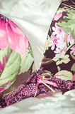 Kvinnlig lacy underclothesbakgrund Arkivbilder