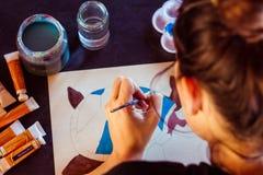 Kvinnlig målare 2 Arkivbilder