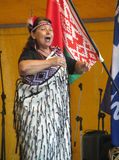 Kvinnlig Maori Performer Royaltyfria Foton