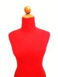 Kvinnlig modell för röd sammet arkivbild