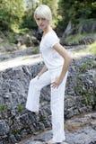 Kvinnlig modell för utvändigt kugghjul arkivfoto