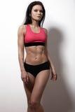 Kvinnlig modell för perfekta sportar Den sunda livsstilen, bantar och kondition Arkivbild