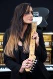 Kvinnlig musiker Royaltyfria Foton