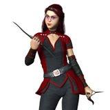 Kvinnlig ninja Royaltyfria Bilder