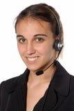 kvinnlig person för kontakt royaltyfria bilder