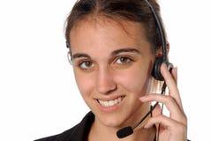 kvinnlig person för kontakt arkivbilder