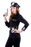 Kvinnlig polis Royaltyfria Foton