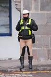 Kvinnlig polis. Royaltyfri Bild