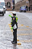 Kvinnlig polis. Royaltyfria Bilder