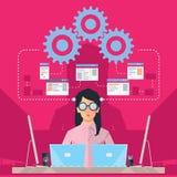 Kvinnlig programvarutekniker Arkivfoton