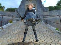 Kvinnlig riddare royaltyfri bild