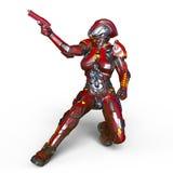 Kvinnlig robot Royaltyfri Fotografi