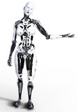 Kvinnlig robotcyborg Royaltyfria Foton