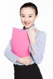 Kvinnlig sekreterare med sakkunskap royaltyfria bilder