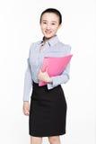 Kvinnlig sekreterare med sakkunskap arkivfoto