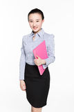 Kvinnlig sekreterare med sakkunskap arkivfoton