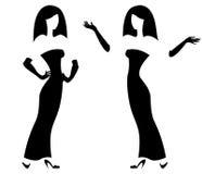 Kvinnlig silhouette royaltyfri illustrationer