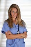 Kvinnlig sjuksköterska Arkivfoto