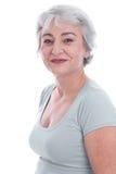 Kvinnlig skönhet i åldern - som isoleras på vit Royaltyfria Foton