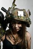 Kvinnlig soldat Royaltyfri Fotografi